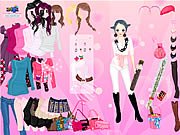 Click to Play Pink Glitter Dress Up