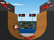 Click to Play Extreme Taz Skateboard Halfpipe