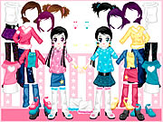 Click to Play Little Twin Dress up