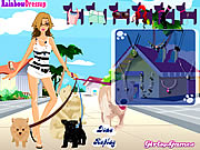 Click to Play Dog Walking Dress Up