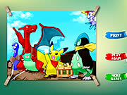 Click to Play Pikachu Kids Coloring