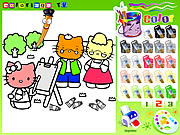Click to Play Hello Kitty Painting