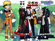 Click to Play Naruto and Friends Dress Up