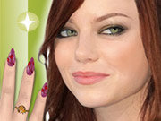 Click to Play Emma Stone Nail Salon